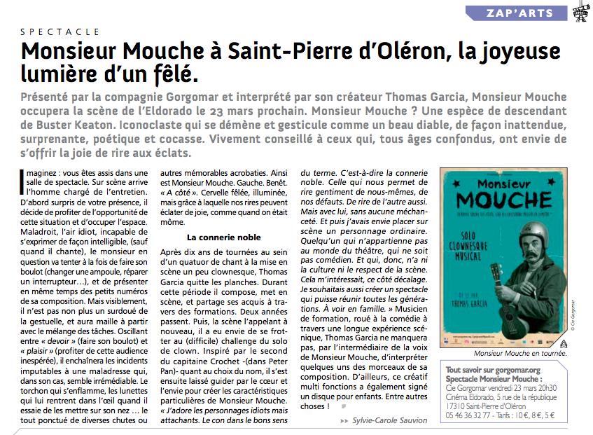 Monsieur Mouche à Saint Pierre d'Oléron